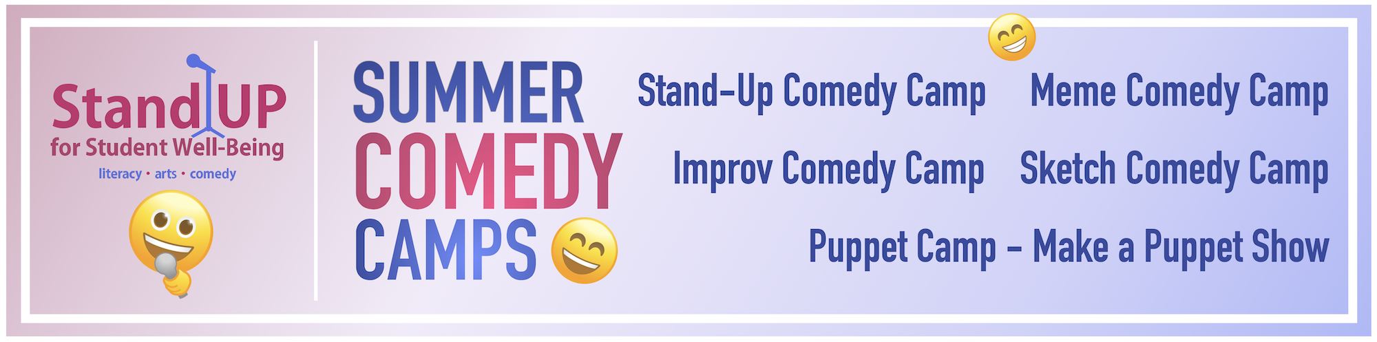 Summer Comedy Camps